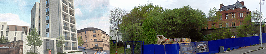 PLAN For 34 Flats At Site In Yorkhill