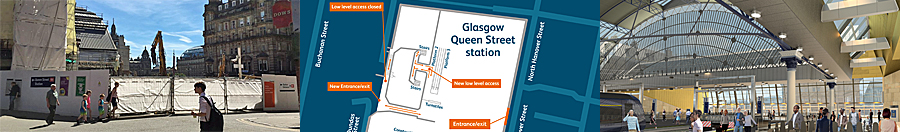 PASSENGERS Advised Of Changed Access At Queen Street Station