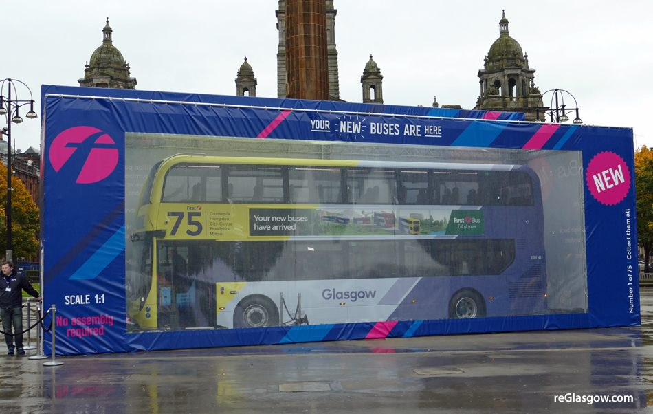 First Glasgow Boxing Clever At Launch Of New 75 Strong Low Emission Bus Fleet