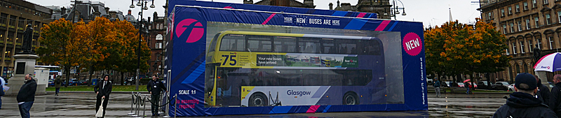FIRST Glasgow Boxing Clever At Launch Of New 75-Strong Low-Emission Bus Fleet