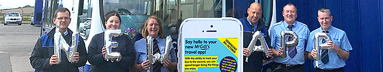 NEW App From McGill's Buses Gives Live Countdown To Bus Arrival