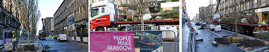 IN Pictures — Root And Branch Change On Sauchiehall Street Gathers Pace With Tree Planting