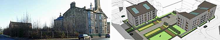 FLATS Plan For Derelict Site Next To A-Listed Calton Church