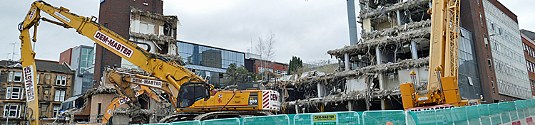IN Pictures — Demolition Of Old Police HQ Well Underway
