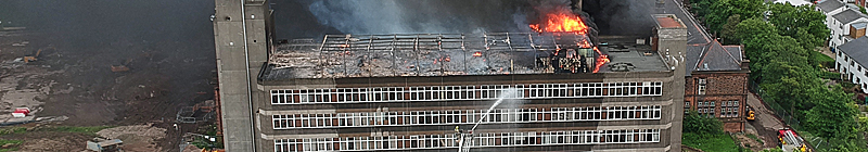 IN Pictures — Blaze At Old Jordanhill Campus Building
