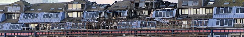 RESTORATION Of Landmark Blaze Flats Will Take Until Late 2021