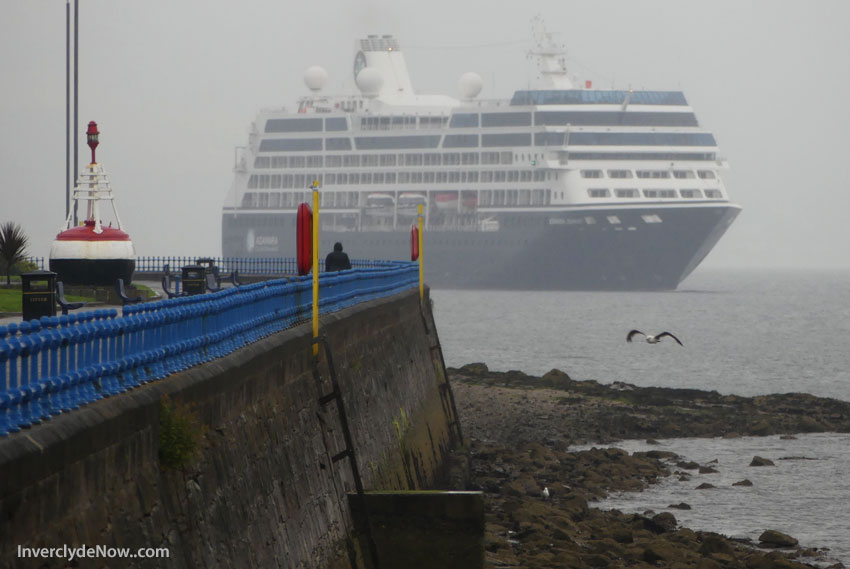 CRUISE Ship's Arrival In Glasgow Delayed