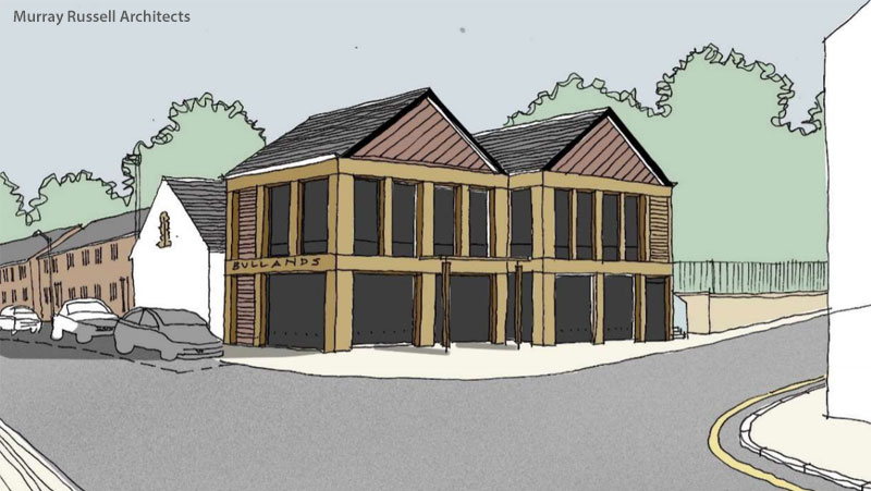 NEW Town Centre Building Proposal For Milngavie Cafe Bullands