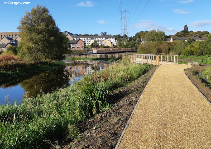 IN Pictures — Glasgow's New Canal Boardwalk, Path And Bridge