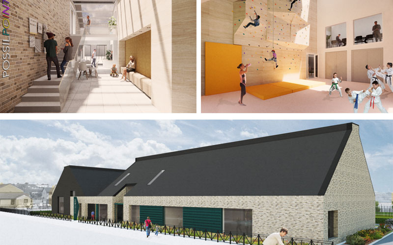 STATE-Of-The-Art Community Hub With Climbing Wall And Fitness Suite Proposed For Possilpark
