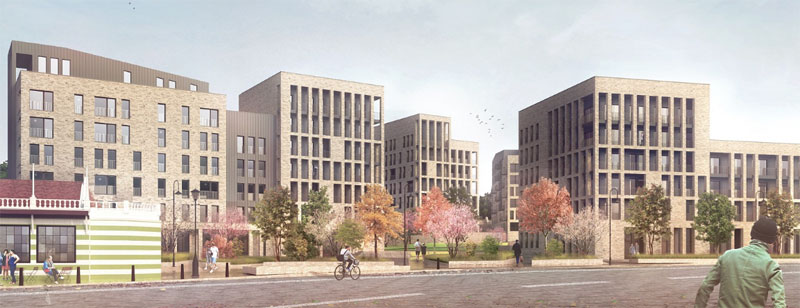 WORK Starts On New Apartments And Shops At Victoria Infirmary Site